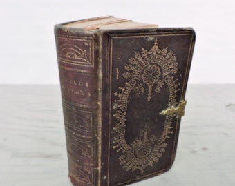 Antique Leather Presbyterian Hymnal - Psalms and Hymns Adapted To Social, Private, and Public Worship - 1843 - Rare First Edition