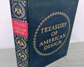 Vintage Art Book - Treasury Of American Design - 1950 - Interior Design - American Art - Art History