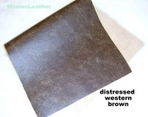 brown distress leather - royal blue leather -metallic leather - 12 x 12 ,8 x 10 leather ,10 x 12 - leather from moxies leather -