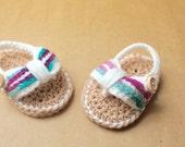 Crochet Baby Flip Flops, Baby Girl, Crochet Sandals, Crochet Baby Booties