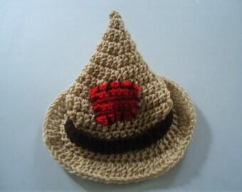 Scarecrow Hat for Baby Toddler Children Teen Assorted Sizes Handmade Crochet Photo Prop