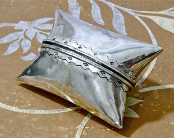 Pillow Shape Coin Holder Money Holder Trinkets Pillow Shape Jewelry Cache Southwestern Engravings Vintage 1930's
