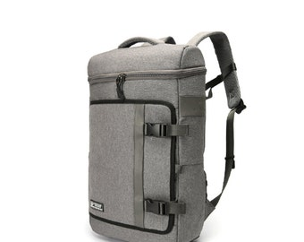 Deluxe Air mesh cushion Backpack with waterproof cover  (Gray)