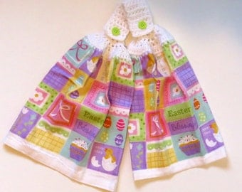 Easter Blessings Hanging Hand Towel Set of 2