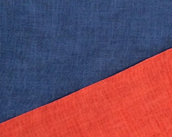 Reversible Cotton Fabric / Red and Blue Fabric / Reversible Fabric / Two Sided Cotton Fabric/ Two Sided Fabric / Reversible Red and Blue