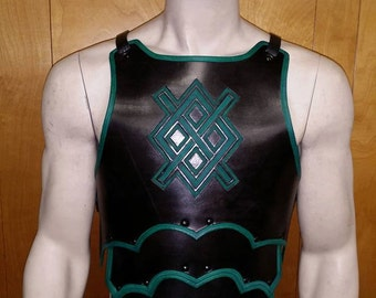 Leather Armor Sentinel Chest & Back with graphic