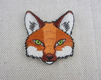 Iron-on Patch, Fox Patch, Embroidered Patch for Jeans, Backpack