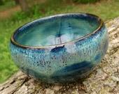 Dessert Bowl - Small Ceramic Dip Bowl - Northern Lights