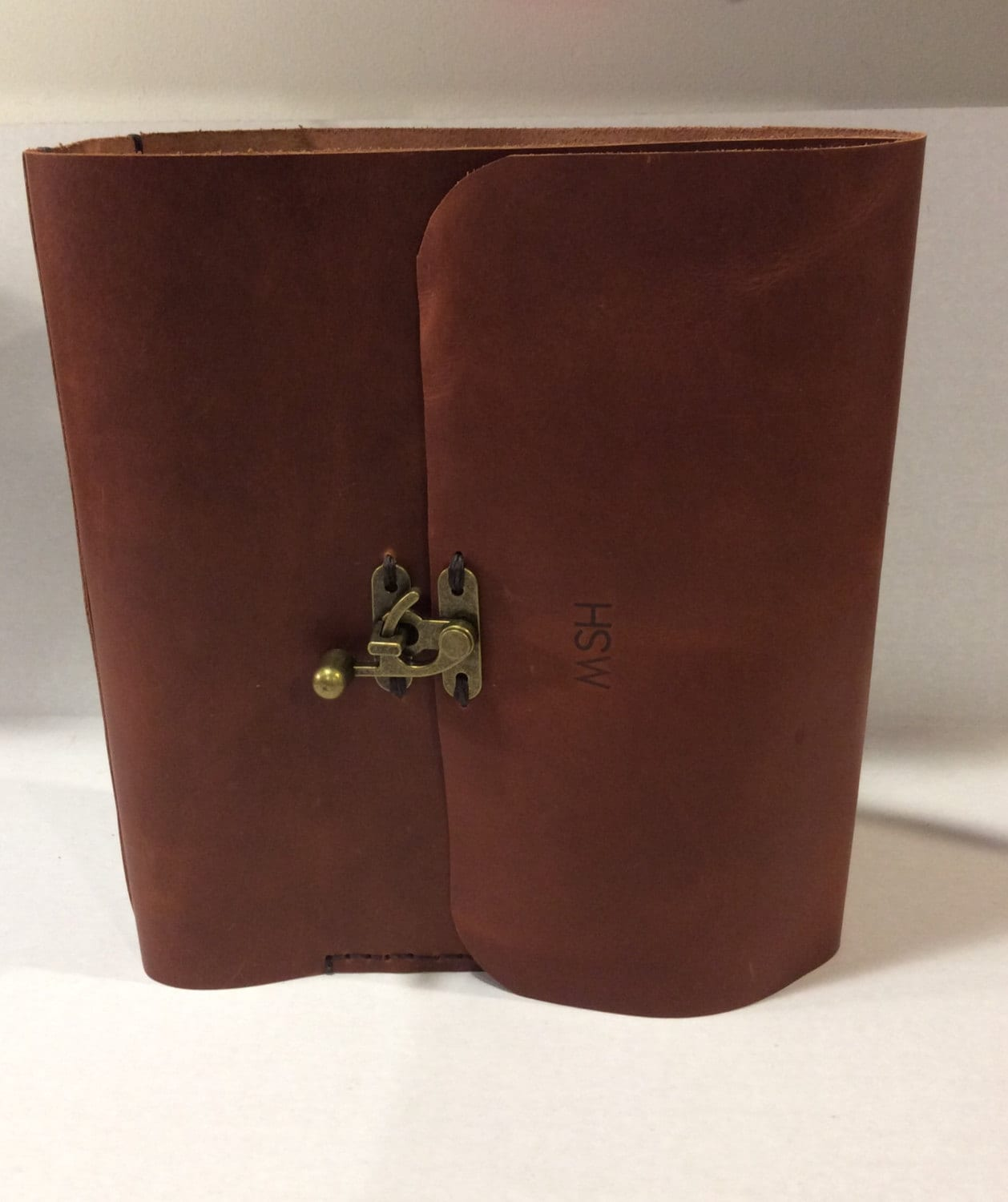 1-1/2 Ring Binder Leather Case/Brown Handmade Leather