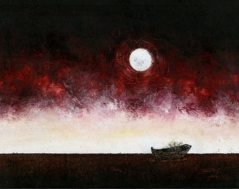 """Art Print // Old rowboat - plants // """"The everlasting patience"""""""