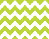 Lime chevron- Riley Blake Designs- Medium Chevron in Lime  1 yard