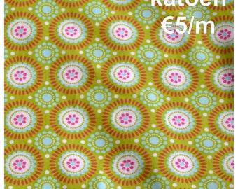 SALE Cotton Flowerprints 'Geometric' lime