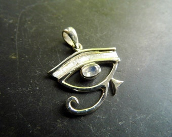 Eye, silver, Horusauge, Moonstone, faceted, trailer, Egypt