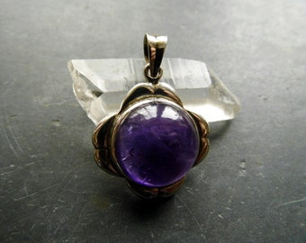 Pendant, silver, sterling silver, Amethyst, purple, jewelry, necklace