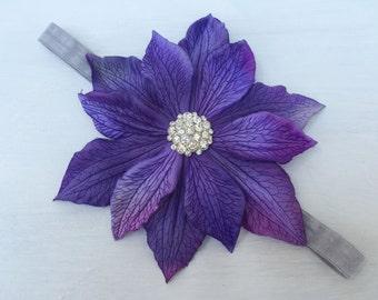 Purplelicious flower headband~Girl headband~Photo prop~Photography prop~Purple flower~Flower girl headband~Lavender flower headband~Wedding