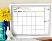 Blank Monthly Calendar - Printable Monthly Calendar - Dry Erase Calendar - 2017 Calendar - Reusable Calendar - Family Calendar - Find Joy