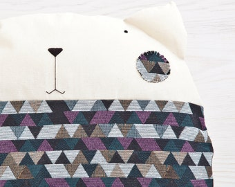 Cute Pillow Cat Cushion Decorative Pillow Home Decor Triangle Pillows Cats Nursery Décor Round Pillow Housewarming Gifts