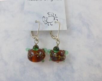 Sea Turtle Glass Earrings