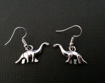 Silver Dinosaur Earrings