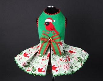 CHRISTMAS:  Red Cardinal Holiday Dog Dress