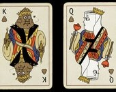 "The KIng and Queen of Sharts - two limited edition 5""x7"" giclee prints"