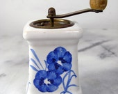 Holland Delft vintage dutch ceramic pepper grinder with flowers and Windmill Painting, Pepper Grinder, Pepper Shaker