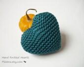 Silk heart - 12th year anniversary gift - Wedding ring bearer - Valentine's Day heart - Plektra UK knits