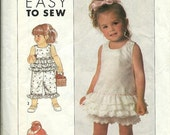 ON SALE Simplicity 9220 Toddler's Sundress, Top, Panties and Cropped Pants Pattern, Size 1/2-1-2-3 UNCUT