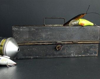 Vintage Merriam Trayless Fishing Tackle Box