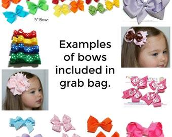 Hair Bows Grab Bag - Boutique Bows - Classic Bows