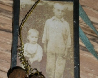 Antique Photo Glass Trinket Ornament Everyday