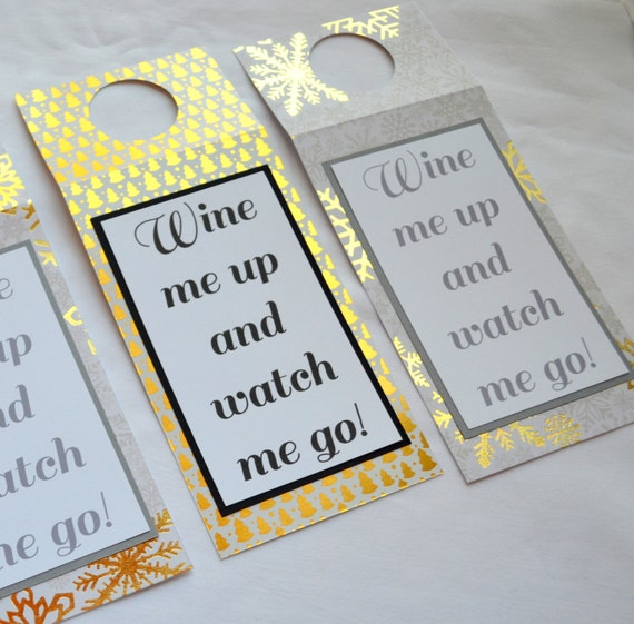 Funny bottle tags wine tags WINE me UP and WATCH me go wine gift tags bottle tags holiday bottle tags alcohol bottle gifts bottle tags