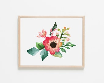 Floral Dreams Bouquet II Nursery Art. Nursery Wall Art. Nursery Prints. Nursery Decor. Girl Wall Art. Floral Wall Art. Instant Download.