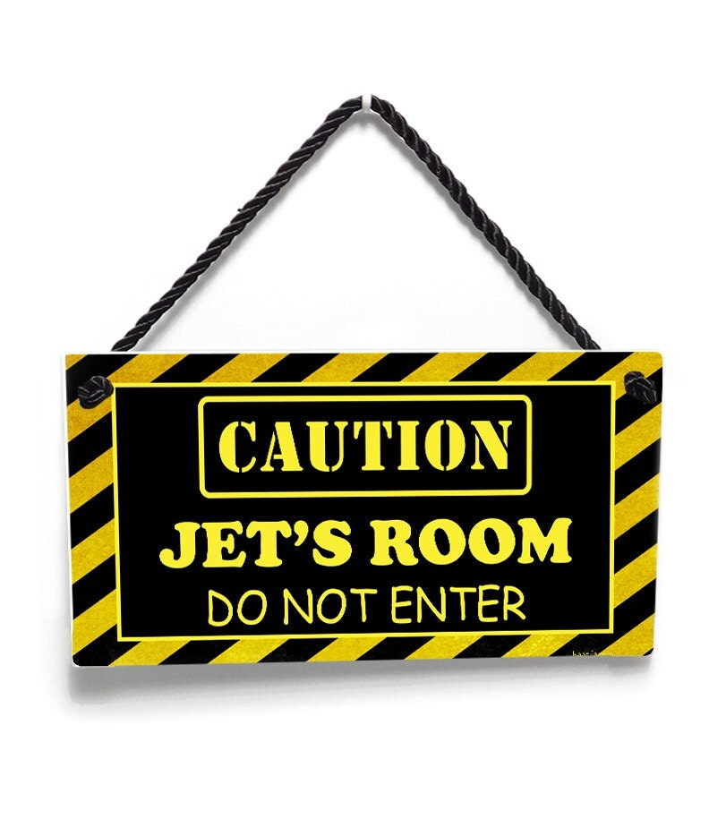 caution do not enter kids door sign boys hideout warning