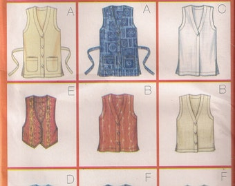 Butterick Sewing Pattern 5552 - Misses' Vest