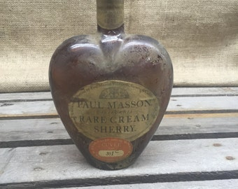 Heart Shaped Paul Masson Rare Cream Sherry Bottle
