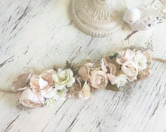 Flower Crown- floral crown- bridal Flower crown-Well Dressed Wolf- Flower Girl Headband-
