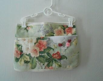 vintage vintage look floral  fabric vendor half apron