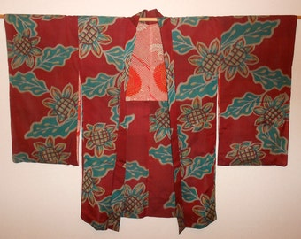 Antique haori - Southern flower