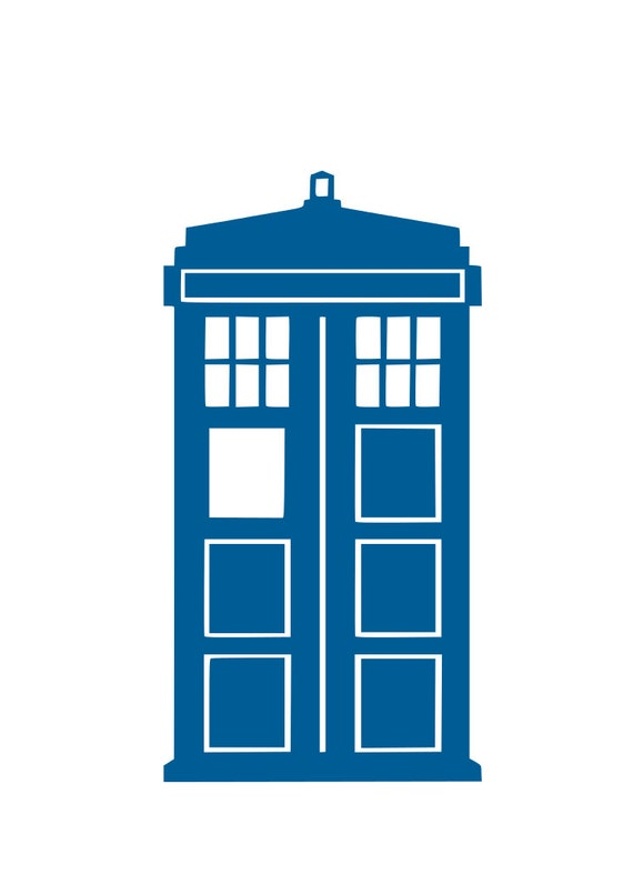 Dr Who Tardis Svg Cutting File For Cricut And Silhouette