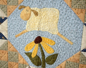 Count Your Blessings Homemade Lap Quilt or Wall Hanging