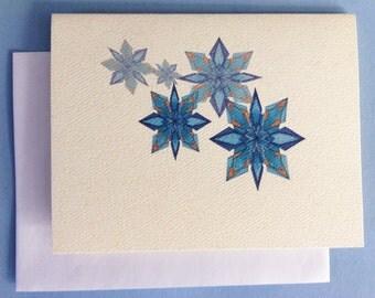 Snowflake 1, Multiple, Blank Greeting Card - Set of 10