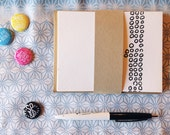 Hand Drawn Pattern Flat Note Cards / Set of 6 Letterpress Printed A2 Flat Note Cards with Envelopes