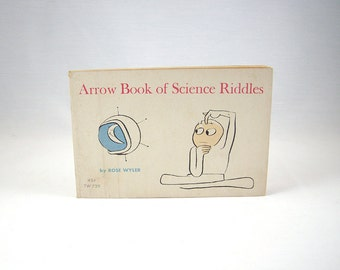 Vintage Science Riddles Book, Mid Century Illustrations 1960s