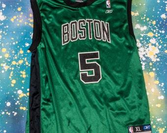 Boston CELTICS Reebok Basketball Jersey #5 Garnett Size XL