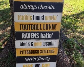 18x36 Football plank sign
