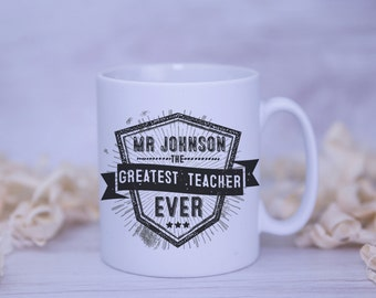 The Greatest Teacher Satin Coated Mug - Colours to Choose From