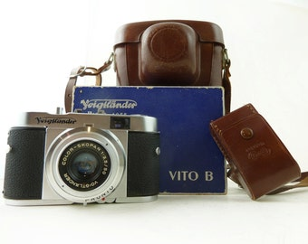 WORKING Voigtlander Vito B Viewfinder Pristine w/Box, Leather Case 35mm, Excellent Condition