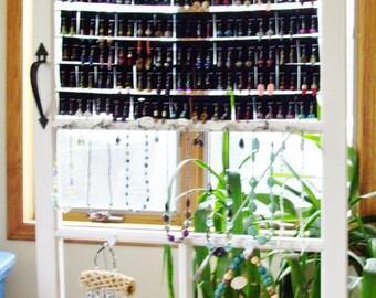 Screen door jewelry display stand