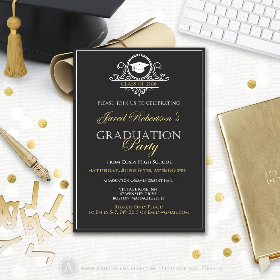 class of printable invitation template customize add text and